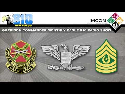 U.S. Army Garrison Japan Commander Monthly Radio Show Mar. 5, 2015