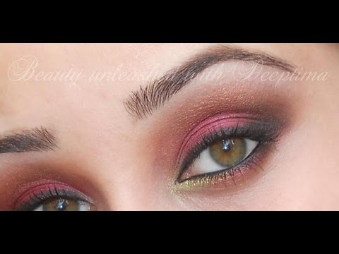 Bronzed Cranberry Smokey Eyes