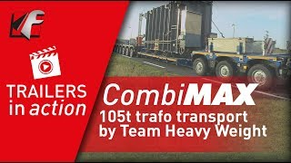 FAYMONVILLE CombiMAX - 105t trafo transport by Team Heavy Weight