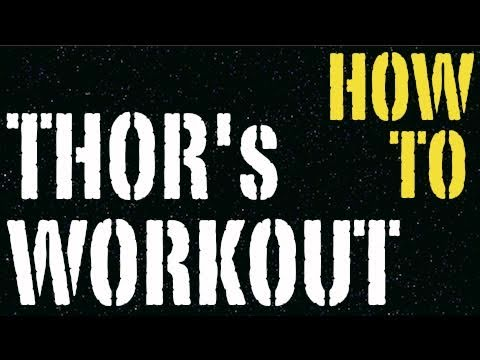 HOW TO THOR UPPER LOWER BODY TEEN MUSCLE SPLIT WORKOUT