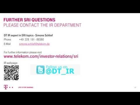 Webinar: Deutsche Telekom for Socially Responsible Investors