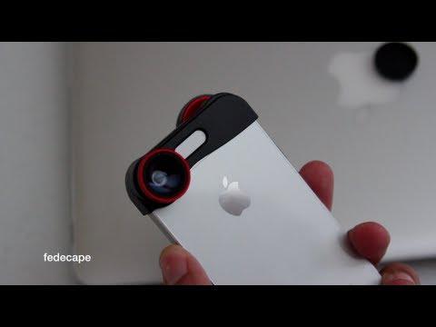 Fish Eye ojo de pescado Macro lentes kit para iPhone 5 5S