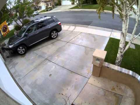 Toyota Highlander Crashing into House