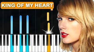 """Download Lagu Taylor Swift - """"King Of My Heart"""" Piano Tutorial - Chords - How To Play - Cover Gratis STAFABAND"""