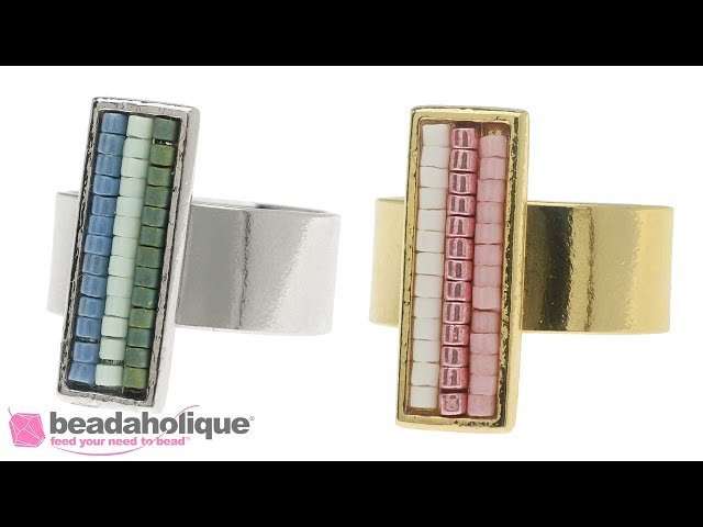 How to Fill a Channel Inlay Ring with Miyuki Delica Seed Beads