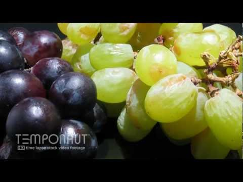 Grapes To Raisins - Rotting Fruit Time-Lapse - HD Video