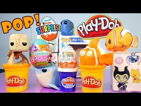 Play-Doh Disney Finding Nemo Full Pop Set How To Make Playdoh Nemo Mystery Mini Kinder Surprise Egg