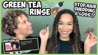 We try Naptural85's Green Tea Rinse for Hair Shedding | Does It Work!?
