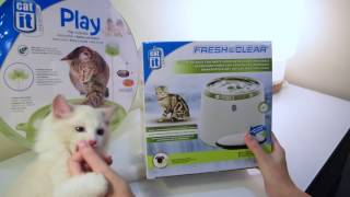 Hagen Catit Fresh & Clear Water Fountains & Play & Scratch Cat Toy First Look