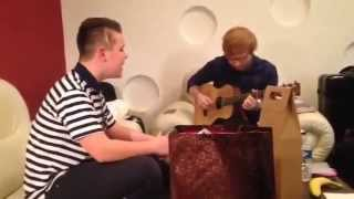 Ed Sheeran and Lewis Smith duet
