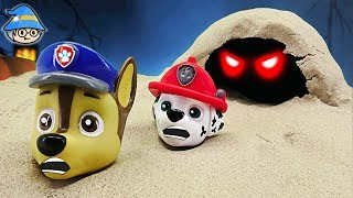 Paw Patrol bath toys. Paw Patrol cave exploration episode. Meet a scary ghost.