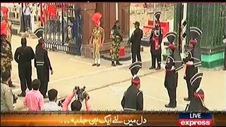Wagah Border Ceremony 6 September 2016 Express News