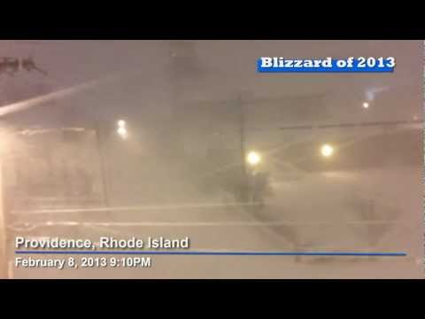 Blizzard of 2013 Raw Footage 9:10PM