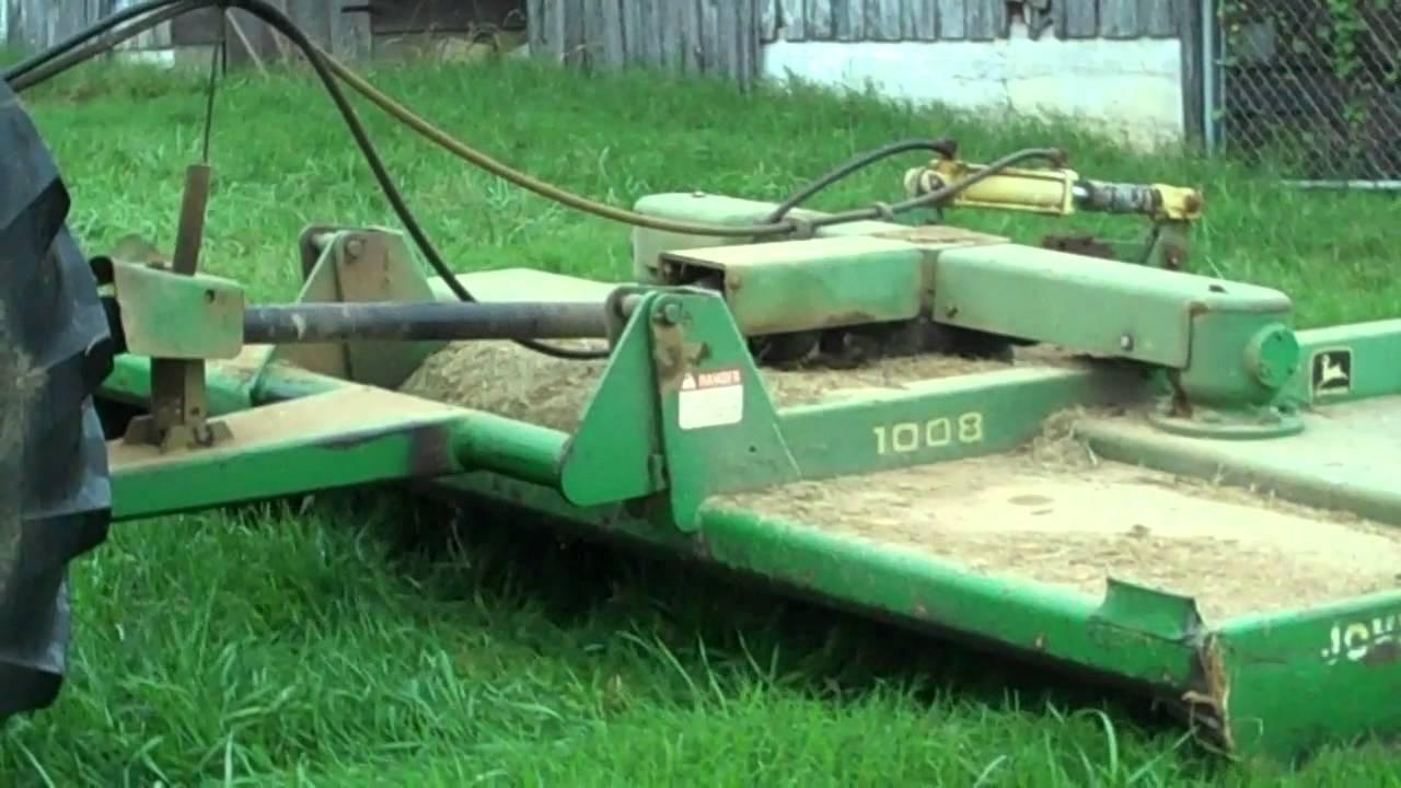 John Deere Bush Hog : John deere bush hog running youtube