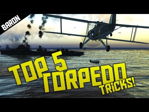 Top 5 Torpedo Tricks - War Thunder!  TORP A TANK!