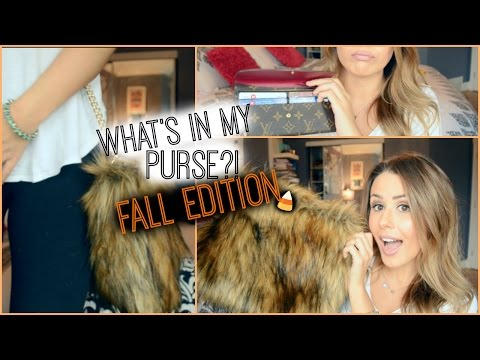 WHAT'S IN MY PURSE?! {FALL EDITION}