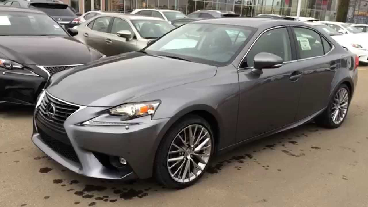new grey on black 2015 lexus is 250 4dr sport sdn auto awd luxury review downtown edmonton. Black Bedroom Furniture Sets. Home Design Ideas