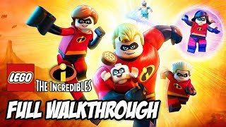 LEGO INCREDIBLES Complete Gameplay Walkthrough PS4 (Full Game Family Friendly)