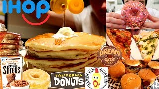 15,000 CALORIE MAGIC! CHEAT DAY ALL YOU CAN EAT  I DONUTS, FRIED CHICKEN, PIZZA, PANCAKES