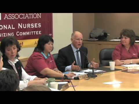 California Nurses Endorse Jerry Brown for Governor of California