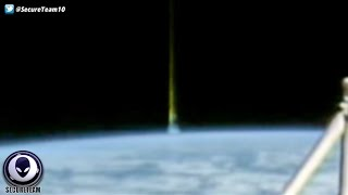 GIANT Light Beam Shoots Into Space From Earth On ISS Feed! 4/24/16