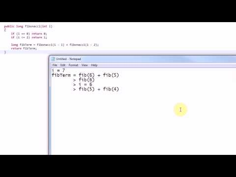 Learning Java: Part 24: Recursion and the Fibonacci Sequence