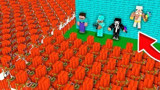 Why 100000 TNT GOLEM ARMY Assault APOCALYPSE in Minecraft Village?