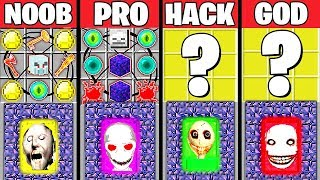 Minecraft Battle: SCARY PORTALS CRAFTING CHALLENGE - NOOB vs PRO vs HACKER vs GOD ~ Animation