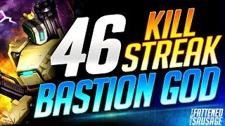 BASTION GOD Gets INSANE 46 Killstreak! 𝗚𝗘𝗧𝗦 𝗖𝗔𝗟𝗟𝗘𝗗 𝗛𝗔𝗖𝗞𝗘𝗥! | Overwatch