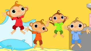 Five Little Monkey | Nursery Rhymes | Baby Songs For Children