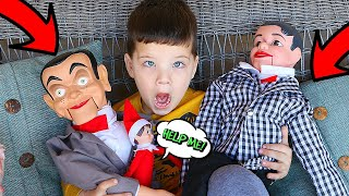 SLAPPY TOUCHED THE ELF ON THE SHELF! SLAPPY's BACK WITH DANNY AND MEAN ELF!
