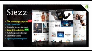 Siezz - Advanced Drag & Drop Responsive Shopify Theme | Themeforest Templates