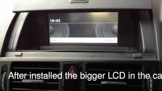 LCD upsize for Mercedes Benz C180 with GPS DVD and Reverse Camera
