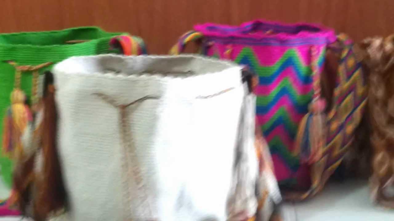 Bolsos y mochilas wayuu tejidos crochet youtube - Como hacer bolsos tejidos ...