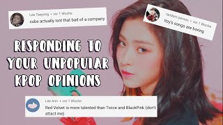 responding to your unpopular kpop opinions
