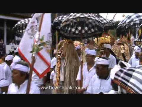 Melasti Ceremony is an annual Balinese Hindu ritual to bring the god symbol to the sea or the holy s