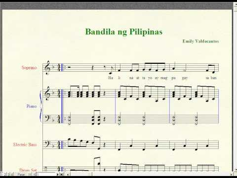 Bandila Ng Pilipinas-filipino Folk Song (music Notation) video