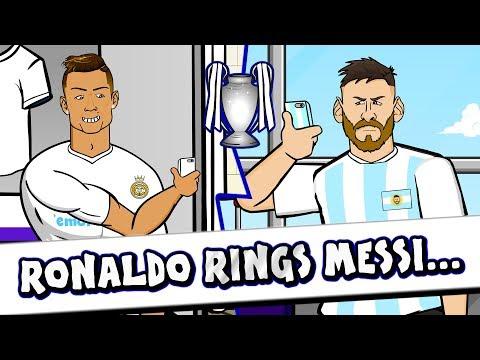 📞RONALDO rings MESSI for ADVICE!📞 (Parody Champions League Final 2018)