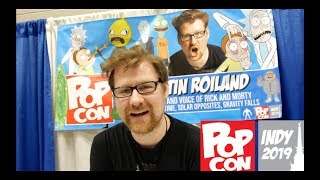 INDY PopCon Convention 2019 VLOG + Justin Roiland EXCLUSIVE Interview -Voice & Creator Rick & Morty
