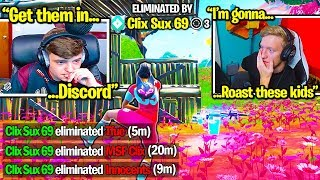 TOXIC TRIO *STREAM SNIPES* TFUE & CLIX in FINALS then CRIES when CALLED OUT! (Fortnite Trios)