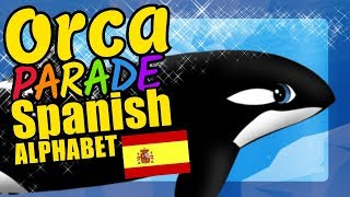 Killer Whales Teaching the Spanish Alphabet Letters Educational Language Video for Kids
