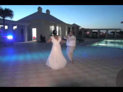 First dance fun after beach wedding on South Padre Island TX