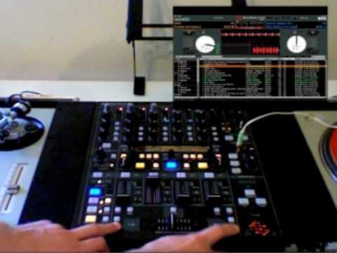 Behringer DDM4000 controlling Serato ScratchLIVE