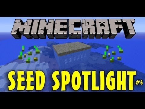 Minecraft 1.6.2 Seed Spotlight: FLOATING SURFACE STRONGHOLD! #6