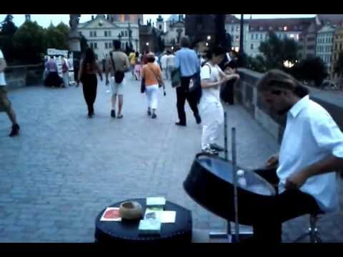 Steel Pan - Street performance - Charles Bridge - Prague - Czech Republic - 2013