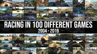 This Is What Driving In 100 Different Racing Games Looks Like!! 2004 - 2019