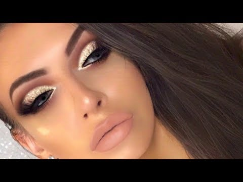 Huda Beauty Rose Gold Palette Cut Crease Tutorial