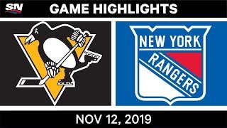 NHL Highlights | Penguins vs. Rangers – Nov. 12, 2019