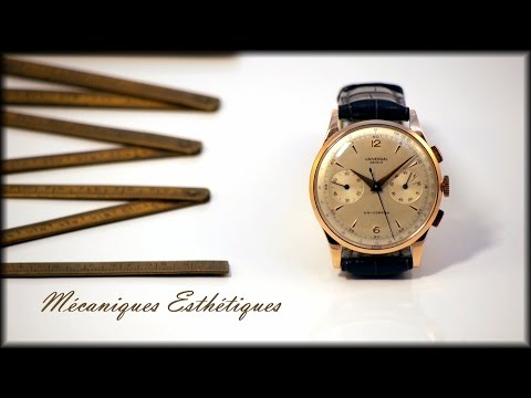 Universal Geneve Uni-Compax (1952) Rose Gold and Big Size !