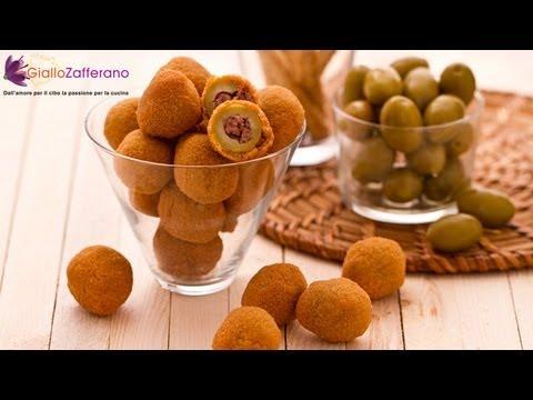 Fried stuffed olives Ascolana style ( olive all'ascolana ) Italian ...